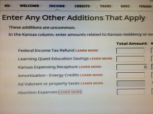 Additions to Kansas Income